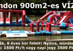900 m2-es vízi sport park Orfűn, a Kistó strandon!