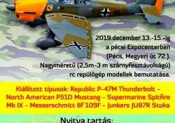 II. világháborús repülőgép modell kiállítás az Expo Centerben