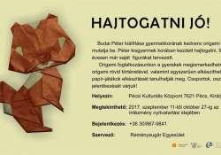 """""""Hajtogatni jó"""" Budai Péter origami kiállítása a Király utcában"""