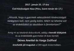 Pécsi Szabad Iskola és WORKSHOP a Civil Közösségek Házában
