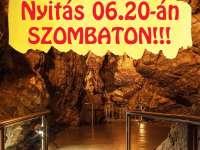 Szombaton megnyitott az Abaligeti Barlang