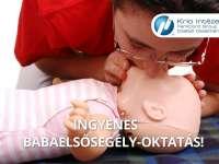 Várandós kismamáknak/kispapáknak szóló, ingyenes babaelsősegély-oktatás Pécsett!