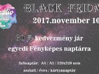 November 10-én Black Friday napot tartunk ami 30% kedvezményt biztosít az egyedi fényképes naptárakra.