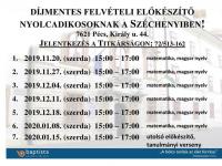Felvételi előkészítő nyolcadikosoknak a Széchenyiben