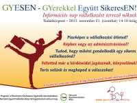 GYESEN - GYerekkel Együtt SikeresEN! - Információs nap vállalkozást tervező nőknek