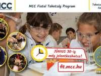 Ötödik osztályba lépők figyelem!  Már csak 1 hét, és lezárul a jelentkezés az MCC FIT Programba!