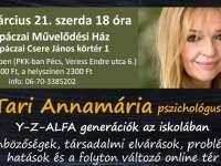 Workshop az oktatásért - Dr Tari Annamária: X-Y-Z-ALFA generációk!