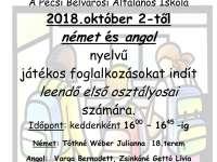 Játékos előkészítő foglalkozások a Pécsi Beévárosi Általános Iskolában