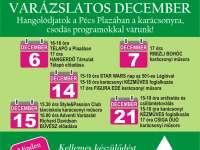 Pécs Plaza decemberi programjai