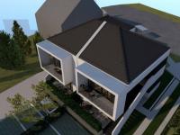Újépítésű, 74 m2-es lakás, saját kerttel, autóbeállóval Patacson